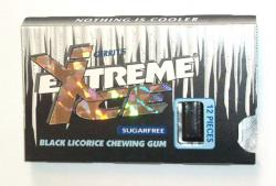 Black Licorice Chewing Gum- Extreme Ice