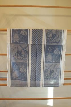 Tea Towel- Boy & Girl, Blue & White
