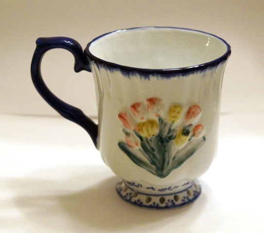 Coffee/Tea Mug- Colored Tulip Decor
